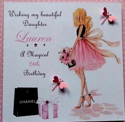 Handmade Personalised Fairy Birthday Card 13th 16th 18th 21st