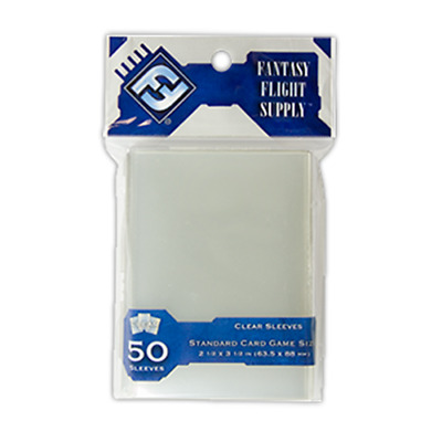 FANTASY FLIGHT Standard Card Size Board Game Sleeves Clear 63.5 x 88mm 50ct FFG