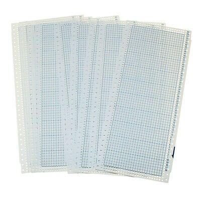 10pcs Blank Punch Card 24 Stitches for Brother Singer/SReed Knitting Machine WS