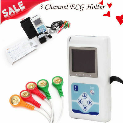 3 Channel ECG Holter ECG/EKG 24 Hours Holter ekg Monitor+Software,TLC9803 Contec