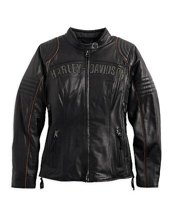 Harley-Davidson Genuine Motorcycle Leather Jacket with Triple Vent System