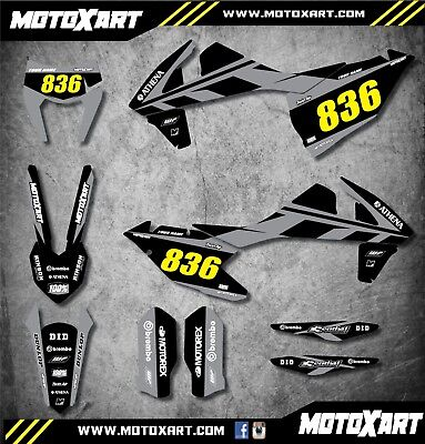 Custom graphics kit MONO style decals stickers fits KTM EXC 2017 2018 2019