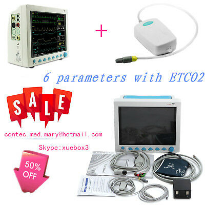 CMS8000 With Capnograph CO2 Patient Monitor ETCO2 Vital Signs 7 Parameters,CE