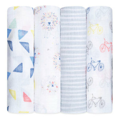 aden and anais breathable muslin 4-pack swaddles: leader of the pack