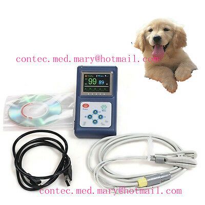 VET Handheld Veterinary Pulse Oximeter with Tongue SpO2 Probe+PC Software,Hot