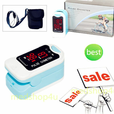 LED Finger Tip Pulse Oximeter Blood Oxygen SpO2 Monitor Pouch &lanyard,CE SALE