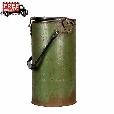 1850's Vintage Antique Old Iron Cylindrical Box With Lock System 850