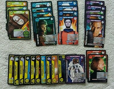 Dr who monster invasion swaps mainly common, 1 ultra rare, 1 rare job lot bundle