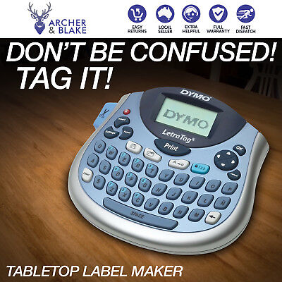New DYMO LetraTag Personal Label Maker Compact Portable QWERTY tabletop Labeller