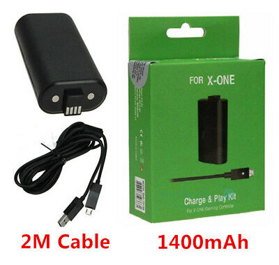 FOR Microsoft XBOX ONE 2M Play and Charge Cable Kit Xbox One Rechargable Battery