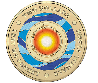 2018 Lest We Forget - Eternal Flame $2 Dollar Coin Uncirculated Australian