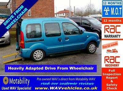 2008 08 Renault Kangoo 1.6 Expression 16V 5D Auto Drive From Wheelchair