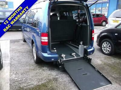 2012 12 Volkswagen Caddy Maxi 1.6 C20 Life Tdi 5D Wheelchair Accessible 7 Seats