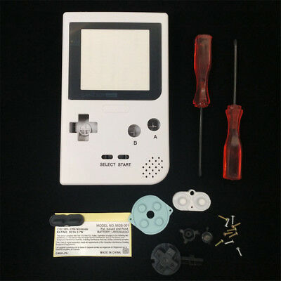 White Full Housing Shell Case For Nintendo Game Boy Pocket GBP