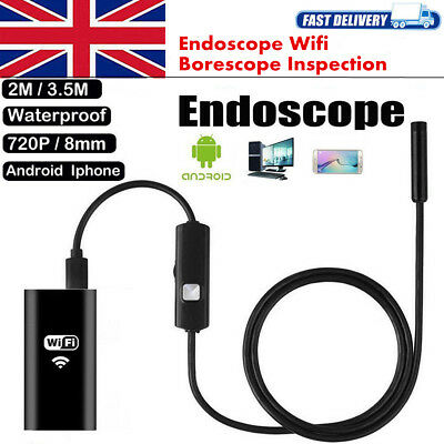 Endoscope Wireless WIFI 6LED IP67 Borescope Inspection Camera for iPhone Android