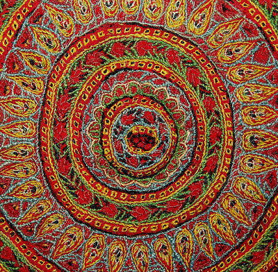 Antique Persian  Wool  Embroidery