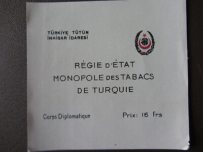 Old Cigarette Label Stamboul Constantinople Regie D'etat Corps Diplomatique