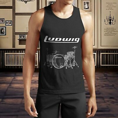 New Ludwig Drumset Percussion Drum Cymbal Drums Tank Top S-5XL Shirt