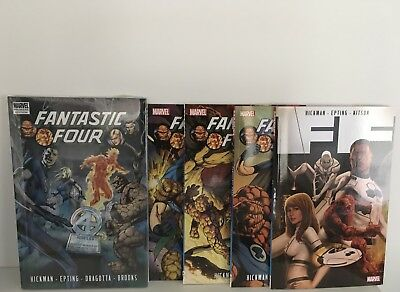 *BRAND NEW* Fantastic Four by Hickman Complete Volume 1 Omnibus in Hardcover&TPs