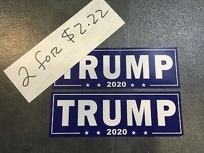 2 TRUMP MAGA KEEP AMERICA GREAT AGAIN bumper sticker stickers made in USA 2020