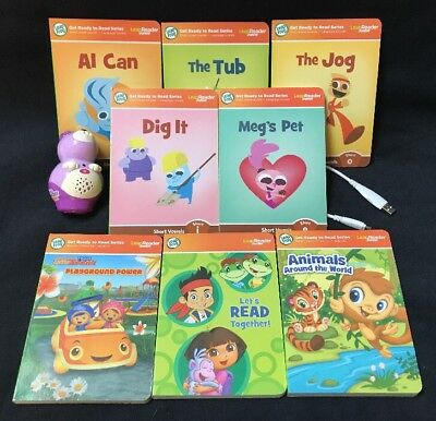 Leap Frog Tag Reader Junior Books Lot of 8 Board Books & Purple Reader