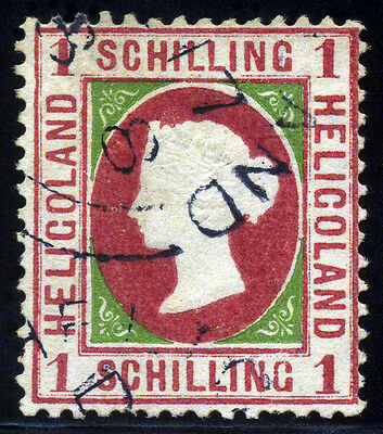 Heligoland 1869 1 Schilling SC# 6 Mi 7, Type III, CDS Cancel  VF Used