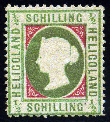 Heligoland 1869 1/2 Schilling SC# 5 Mi 6, Type II, Mint No gum Sign