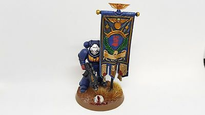 Warhammer 40k - Crimson Fists - Primaris Space Marine Ancient Standard - Painted