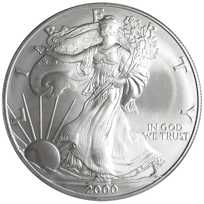 2000 $1 American Silver Eagle 1 oz Brilliant Uncirculated