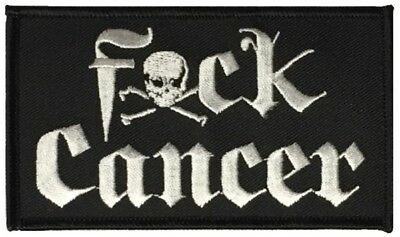 "F*CK CANCER 4""x2"" Patch Made in the USA"
