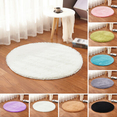 Floor New Small Shaggy Rug Carpet Bath Soft Anti-skid Fluffy Area Colors Room
