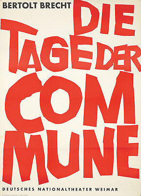 Original Vintage Poster The Days of the Commune German Theater