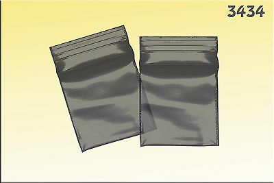 ZipLock baggies .34 x .34 (1000/pack) - Black