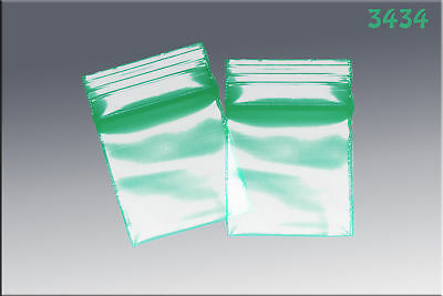 ZipLock baggies .34 x .34 (1000/pack) - Green