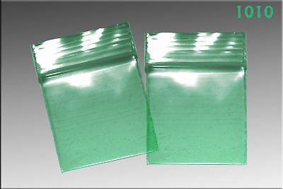 Zip Lock baggies 1.0 x 1.0 (1000/pack) - Green