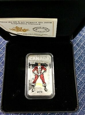 2018 canada Captain Canuck $20 1OZ Pure Silver Proof Coloured Coin Ready to ship