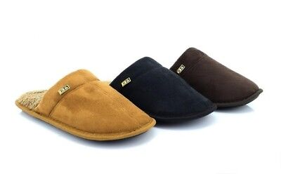 Mens Cool Warm Indoor Microsoft Slippers Slip On Furlined Mules