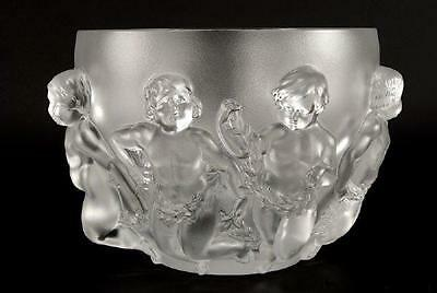 Get 2 For Price Of 1!! Rare Pair Lrg Lalique Luxembourg Children Bowls Rt$16000!