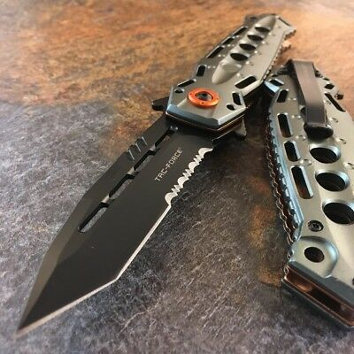 "8.75"" TAC-FORCE Spring Assisted TACTICAL TANTO Folding Blade Open Pocket Knife"