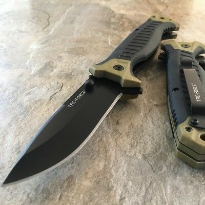 "8.75"" TAN TAC-FORCE SPRING ASSISTED POCKET KNIFE Tactical Folding MILITARY EDC"