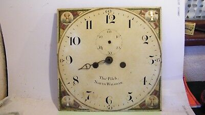 RARE ANTIQUE LONGCASE CLOCK FACE THOMAS PILCH of NORTH WALSHAM NORFOLK 1773-1855
