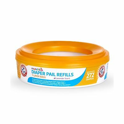 Munchkin Arm and Hammer Diaper Pail Refill Rings Lavender Scent 272 Count