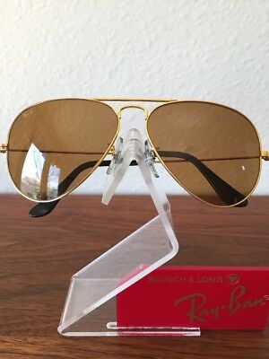 5e7d01e0445 Vintage Ray Ban Bausch and Lomb W1661 Gold Outdoorsman Chromax Sunglasses  58mm
