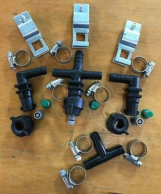 "Spray Boom Repair Kit: tips screens 3/4"" square clamps 1/2"" nozzle bodies"