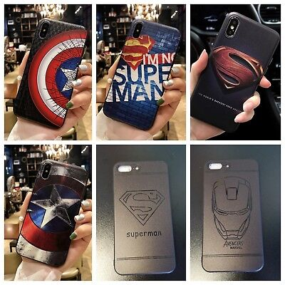 3D Superhero Relief Silicone TPU Bumper Phone Case Cover For IPhone 78/Plus/X/XS