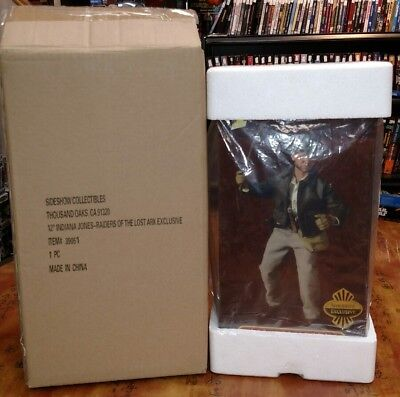 """Sideshow Exclusive 12"""" Indiana Jones Raiders Of The Lost Ark #39051 New Ship Box"""