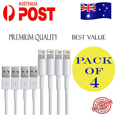 4x Genuine Apple Lightning Data Cable Charger for iPhone 6 7 Plus 5 S C 8 X iPad