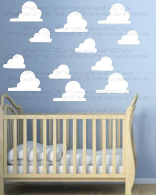CLOUDS Wall Sticker Andy's Toy Story Boys Bedroom Vinyl Art Decal x 25