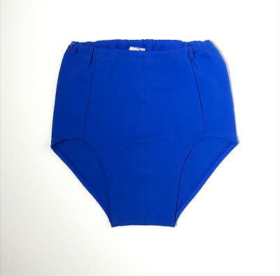 Deadstock 70s Boys European High Waist Blue Swim Trunks Bathing Suit 10 FREE S/H