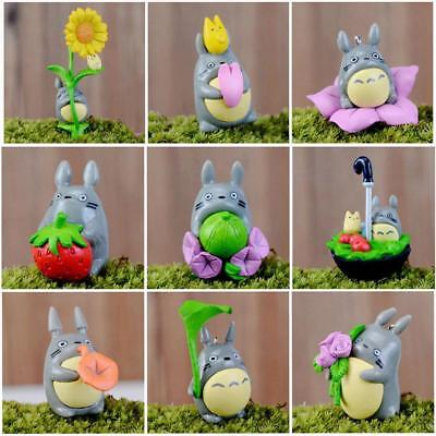 9Pcs Miniature Totoro Figure Craft Plant Pot Fairy Garden Ornament Decor Toy